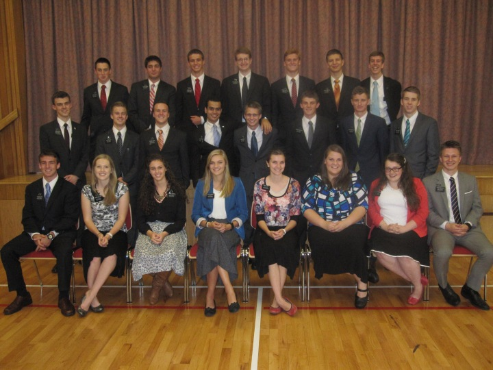 This is the entire group of new Leeds missionaries.
