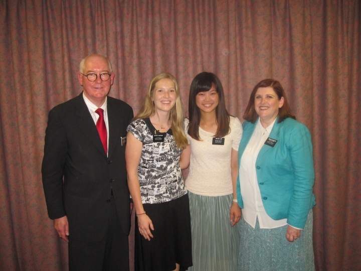 Katie with her new companion, Sister Lam and President and Sister Pilkington.