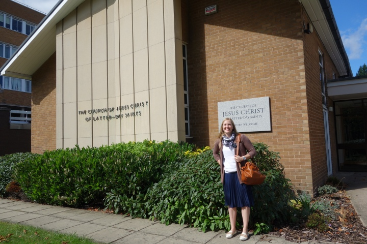 Just in case you were wondering what churches here in England look like, that's me in front of one.