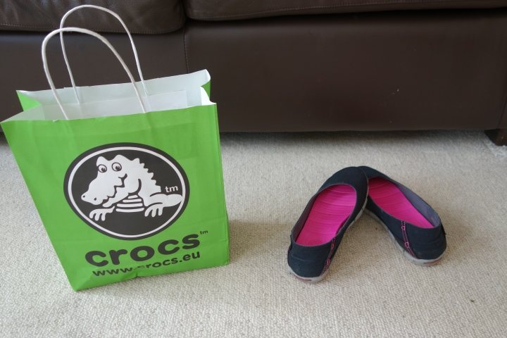 Bought a new pair of shoes last week after Sister Kuhn gave me a recommendation on hers. Don't be scared by the label! I would recommend them to all sister missionaries around the world. So comfortable! Crocs is where it's at!""