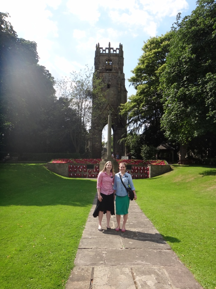 In front of another war memorial. This is in the cutest town called Richmond, which is about 20 minutes out from Darlo.