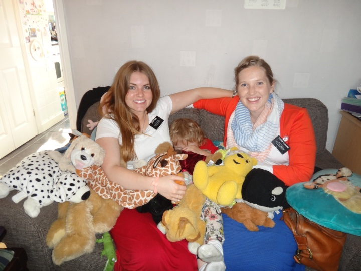 Lou Elston brought down every one of her teddies to show us. We were buried! She decided she needed to be part of it.
