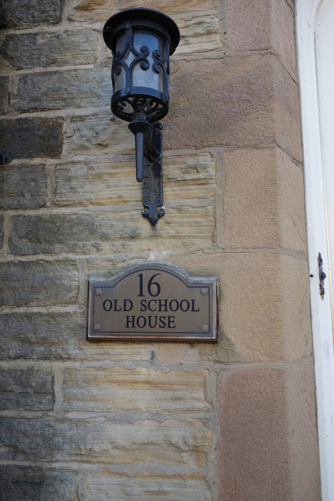 "I  don't know if ""Old School house"" means it used to literally be a school house or if they are using the more current slang of ""old school""."